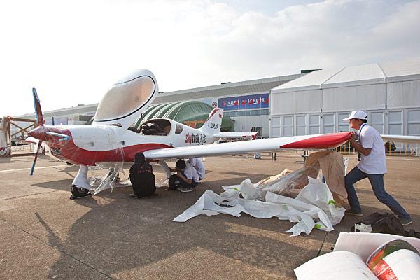 Setting up @ Airshow China